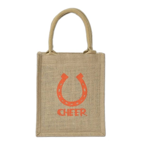 Promotional Cabo Small Laminated Burlap Tote Bag