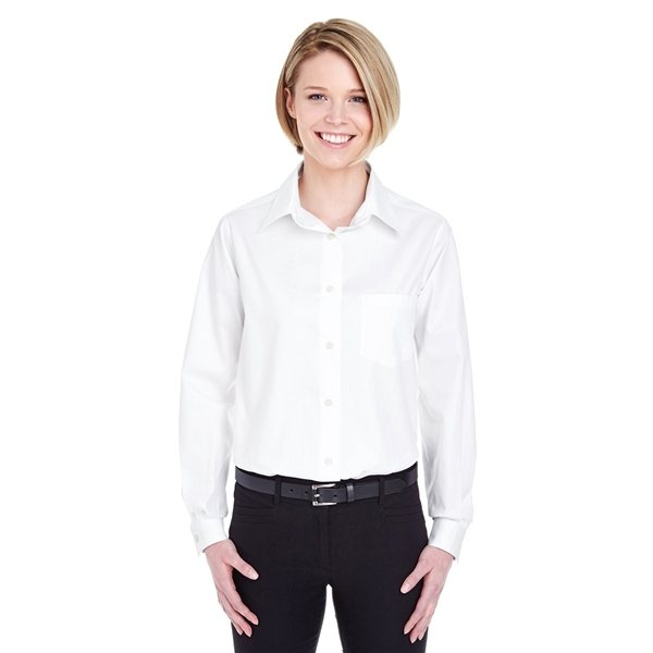 Promotional UltraClub(R) Long - Sleeve Performance Pinpoint