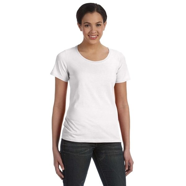 Promotional ANVIL(R) Featherweight Scoop T - Shirt - WHITE
