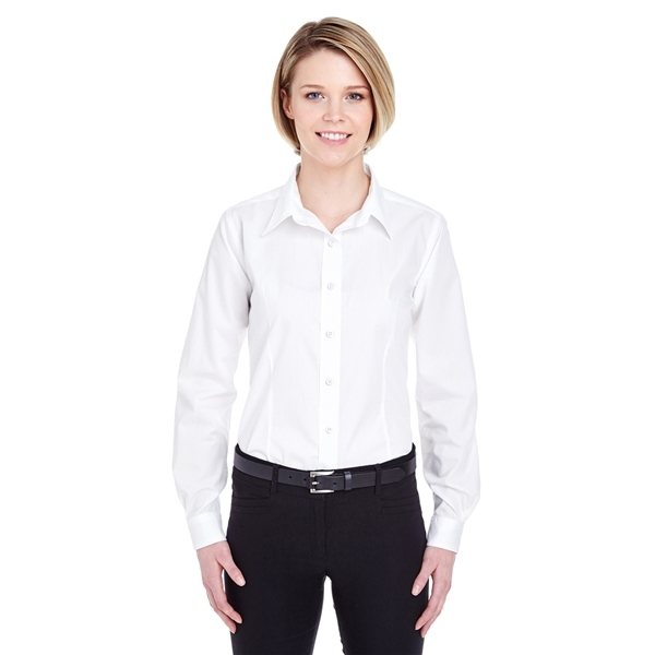 Promotional UltraClub(R) Easy - Care Broadcloth - WHITE
