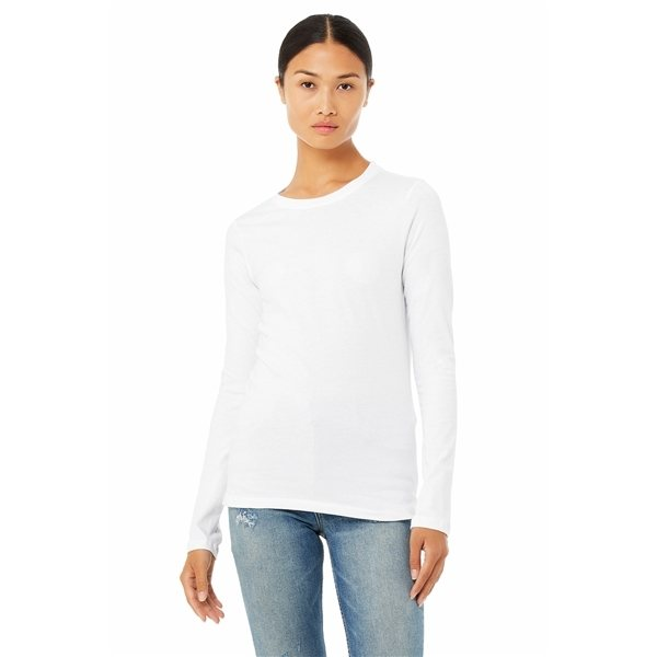 Promotional BELLA + CANVAS Relaxed Jersey Long - Sleeve T - Shirt - 6450 - WHITE