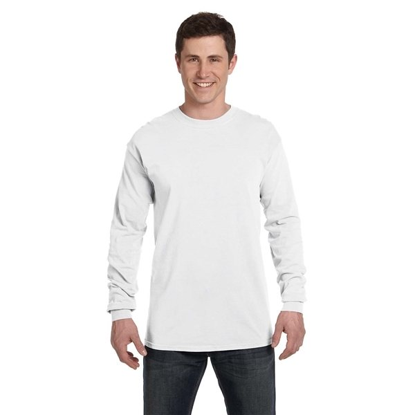 Promotional Comfort Colors(R) Heavyweight RS Long - Sleeve T - Shirt - WHITE