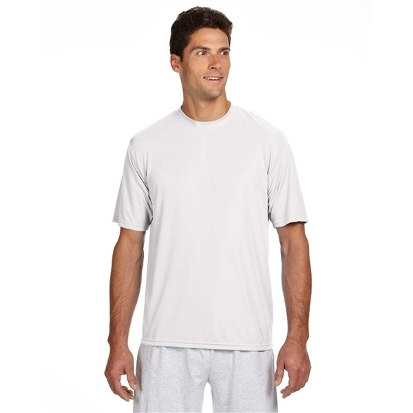 Promotional A4 Short - Sleeve Cooling Performance Crew - WHITE