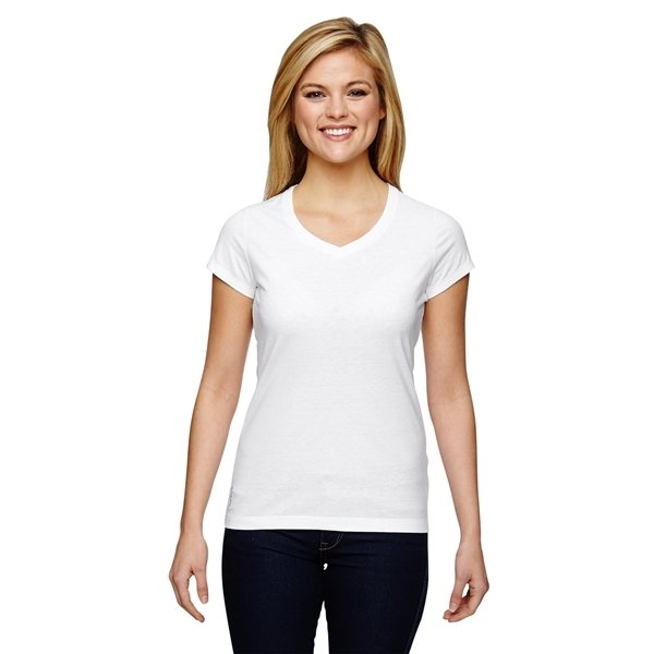 Promotional Champion Vapor(R) Ladies Cotton Short - Sleeve V - Neck T - Shirt