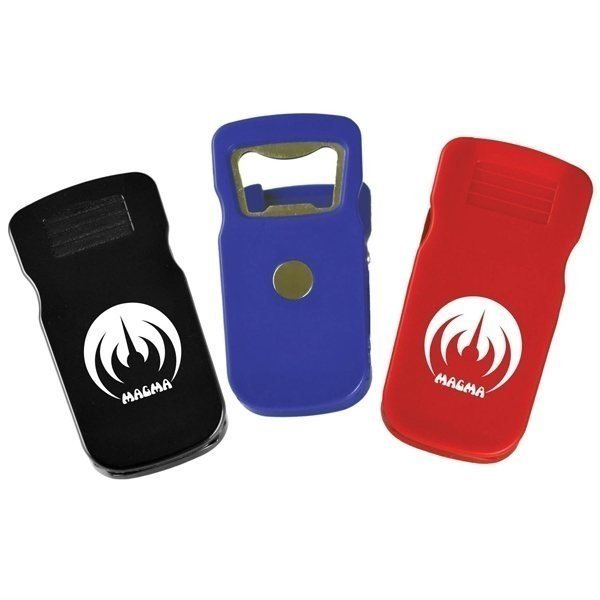 Promotional Clip With Magnet Bottle Opener