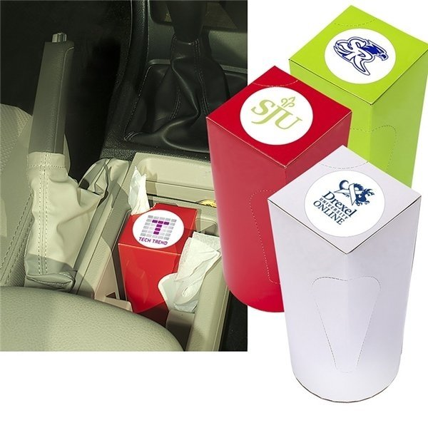 Promotional Car Cup Box Facial Tissue