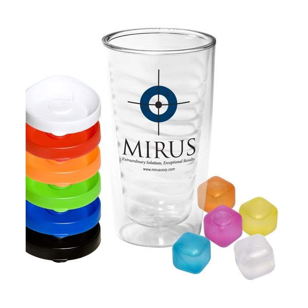 Promotional Avalon Clear Tumbler and Ice Cubes Set