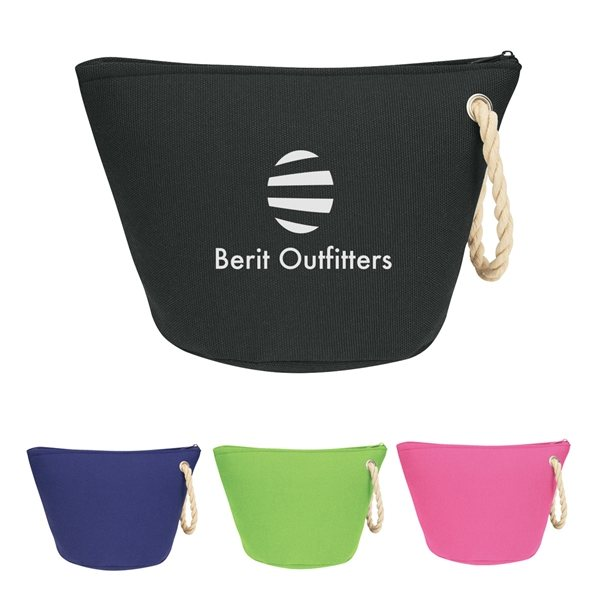 Promotional Cosmetic Bag With Rope Strap