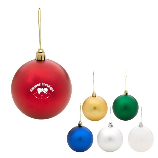 Promotional Round Shatter - Resistant Christmas Ornament