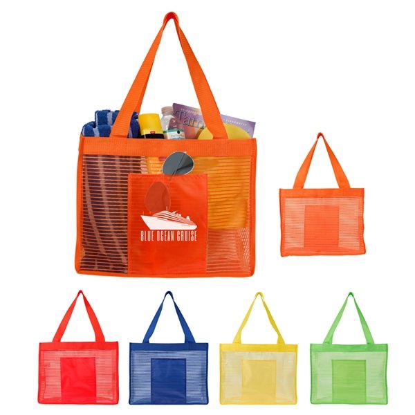 Promotional Sheer Striped Tote Bag