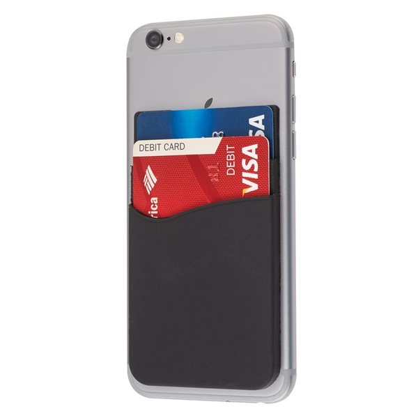 Promotional Dual Pocket Silicone Phone Wallet