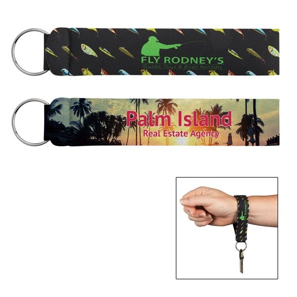 Promotional Neoprene Wristband With Key Ring