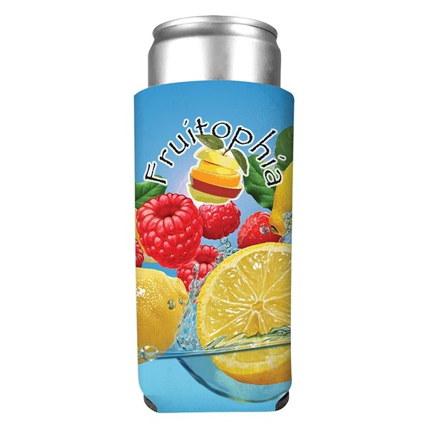 Promotional 12 oz Full Color Slim Kan - Tastic