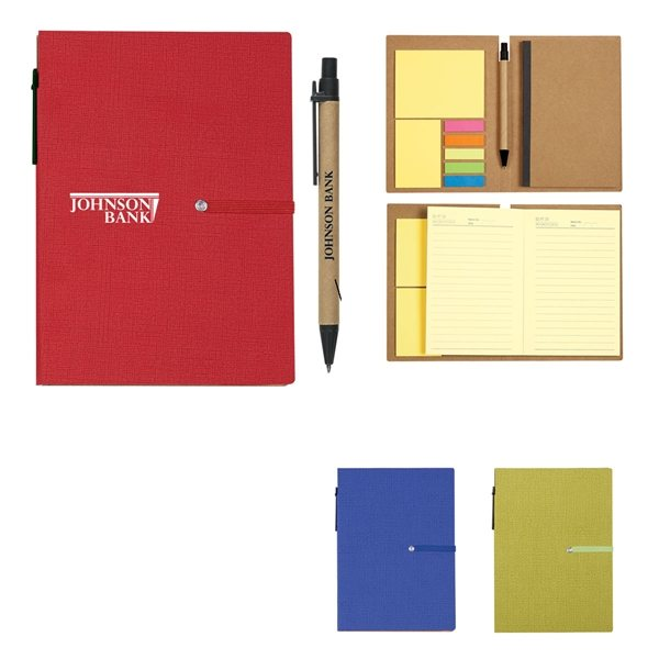 Promotional Notebook With Sticky Notes And Pen