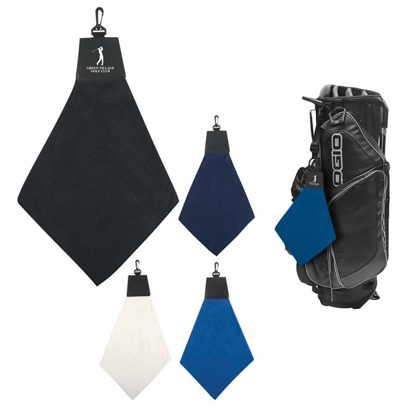 Promotional Triangle Fold Golf Towel