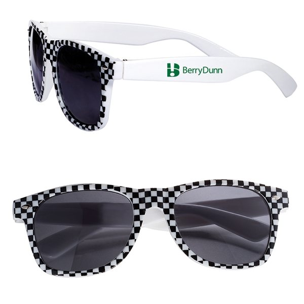 Promotional Checkered Flag (Racing Theme) Based Sunglasses