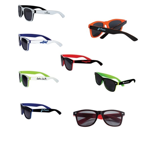Promotional Two Tone Glossy Sunglasses