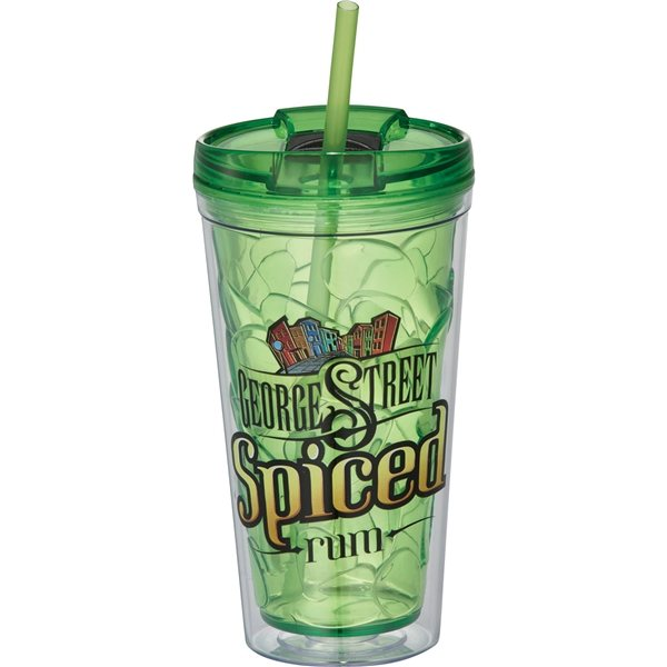Promotional Hot Cold Bloom Geometric Tumbler 16 oz