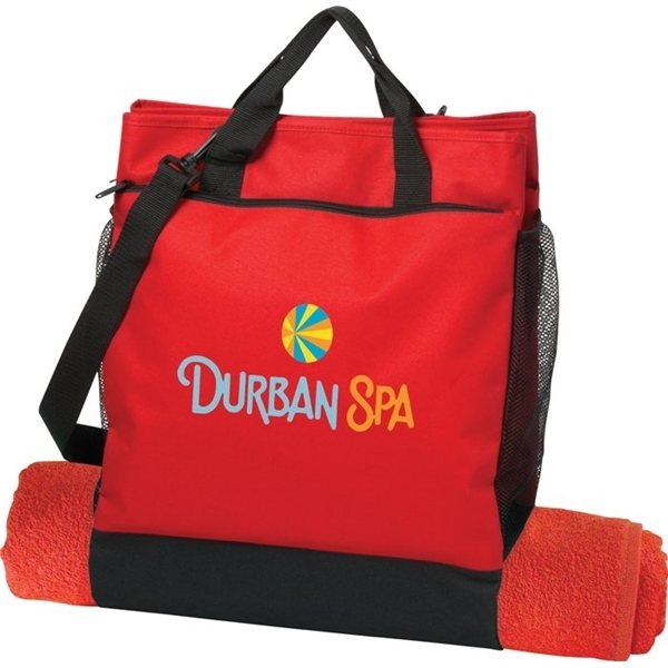 Promotional Red 600D Coast Cooler Tote Coast Cooler Tote