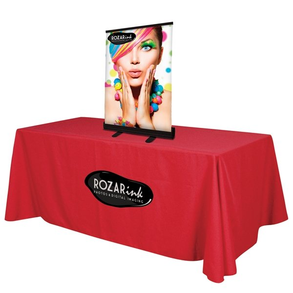 Promotional 24 Economy Tabletop Retractor Opaque Fabric Kit