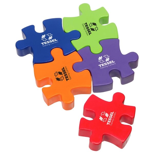 Promotional Connecting Puzzle Piece - Stress Relievers