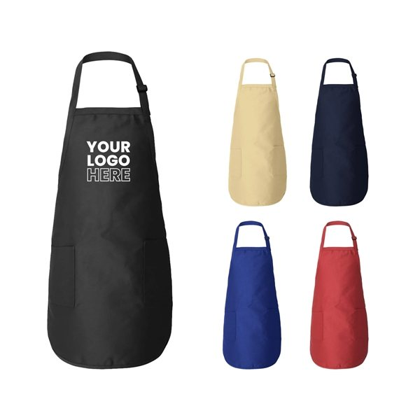 Promotional Q - Tees - Full - Length Apron with Pockets