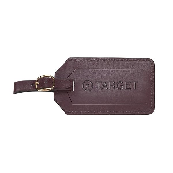 Promotional Cortina Leather Luggage Tags with Security Flap Cover