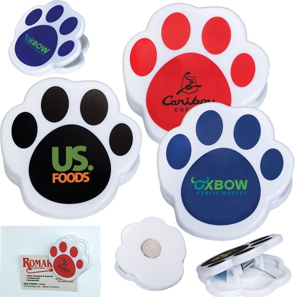 Promotional Pet Paw Magnetic Memo Clip