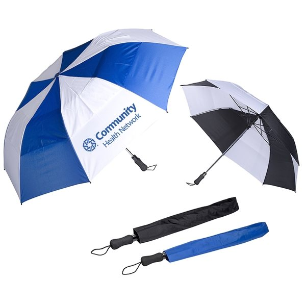 Promotional Vented Auto Open Golf Umbrella 58