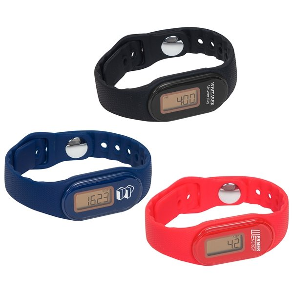 Promotional Tap N Read Waterproof Fitness Tracker + Pedometer Watch