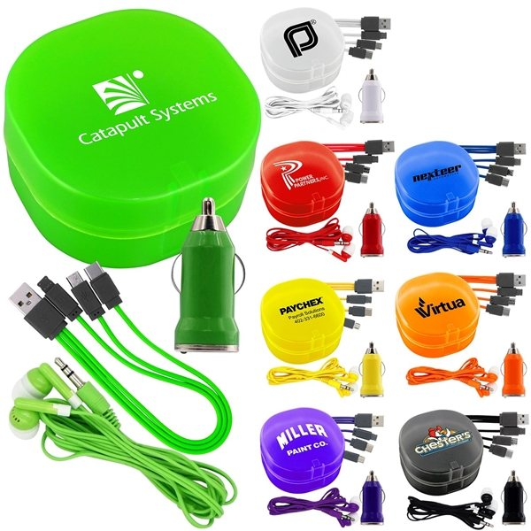 Promotional Carry All Car Charging Set