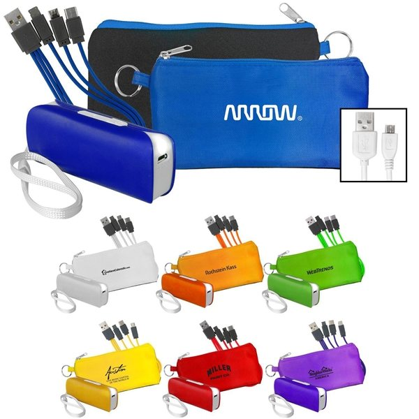 Promotional Power Bank Cord Set