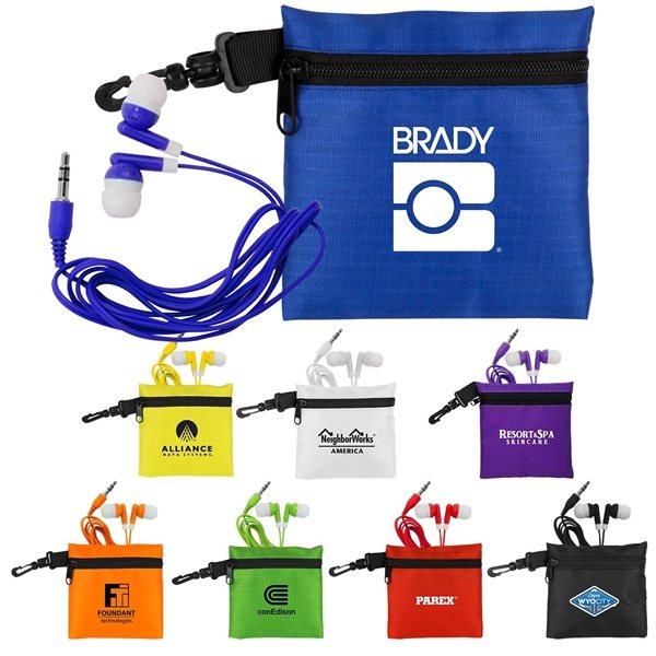 Promotional Trendy Ear Bud Pouch Set