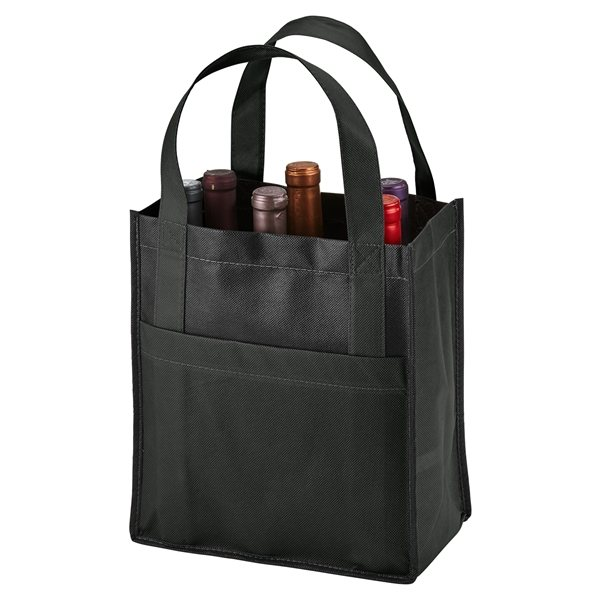 Promotional Toscana Six Bottle Non - Woven Wine Tote