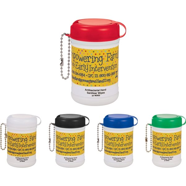 Promotional Mini Canister Anti - Bacterial Wipes