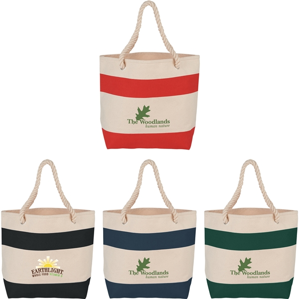 Promotional 16 oz Cotton Rope Handle Tote