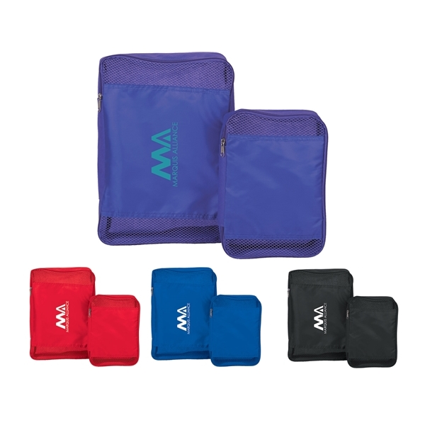 Promotional Non - Woven / Polyester Luggage Cube Set