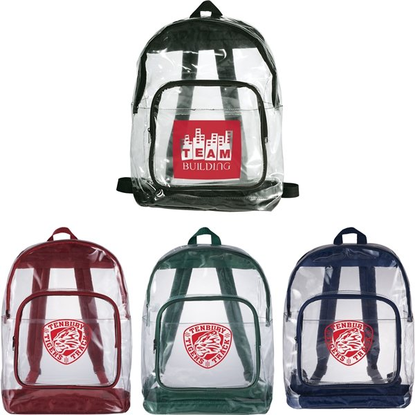 Promotional Rally Clear Backpack