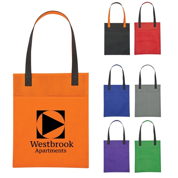 Promotional Non - Woven Turnabout Brochure Tote Bag