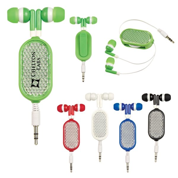 Promotional Retractable Reflective Earbuds