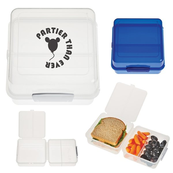 Promotional Split - Level Lunch Container
