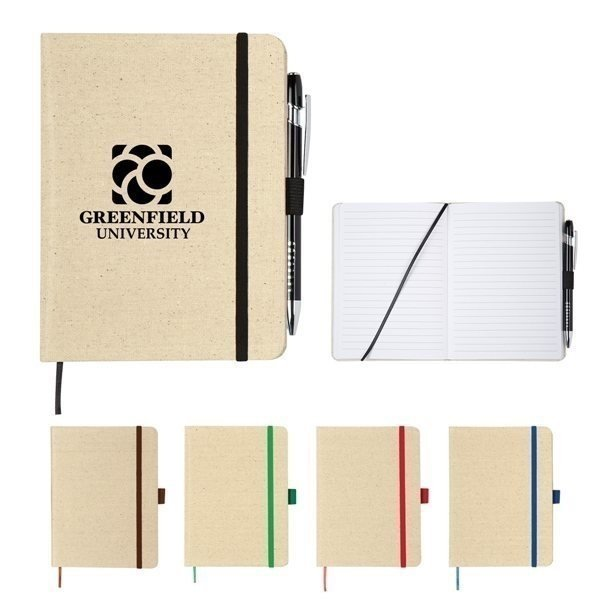 Promotional 5 x 7 Canvas Journal Notebook