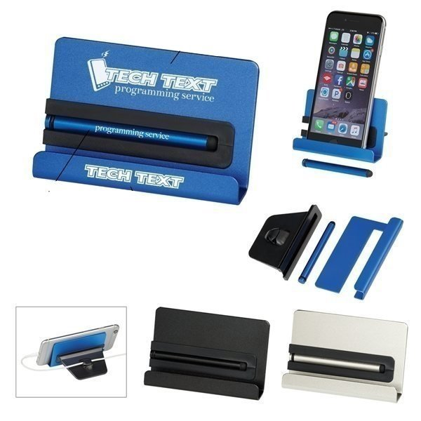 Promotional Aluminum Phone Stand With Stylus
