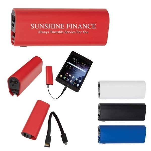 Promotional UL Listed Power Bank With Micro Charger