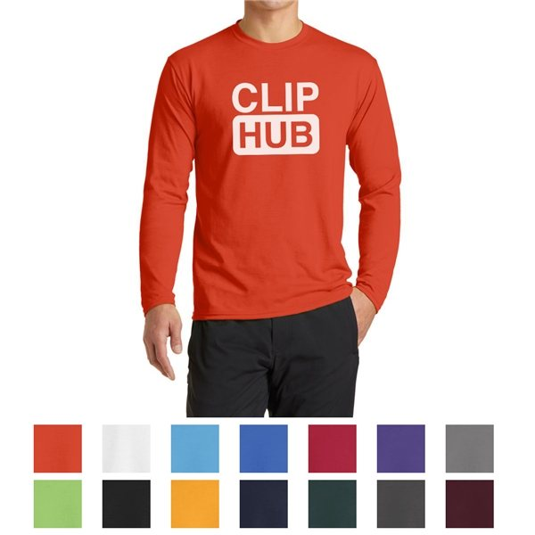 Promotional Port Company(R) Long Sleeve Performance Blend Tee