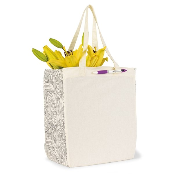 Promotional Chelsea Cotton Market Tote - Ivory / Black