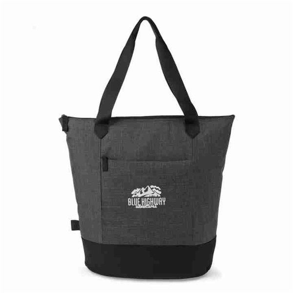 Promotional Heritage Supply(TM) Tanner Tote - Charcoal Heather / Black