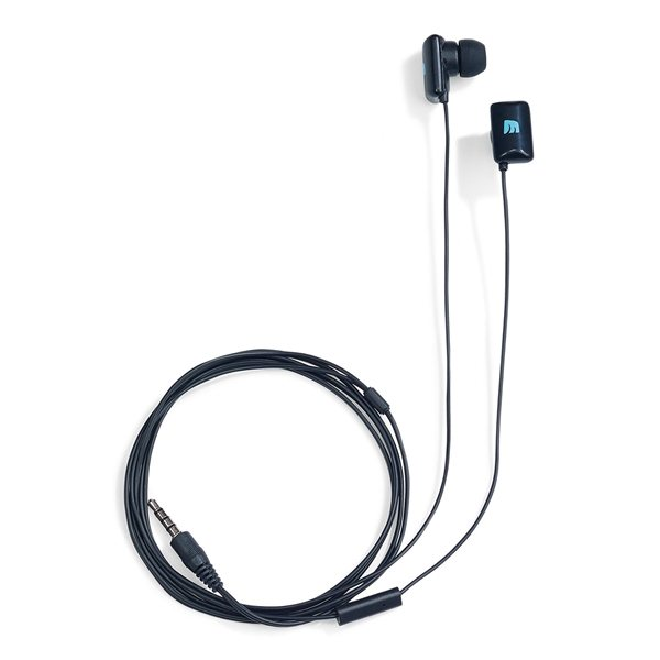 Promotional Wired Earbuds with Mic - Black