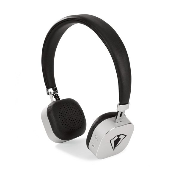 Promotional Electra Bluetooth(R) Headphones - Black - Brushed Silver