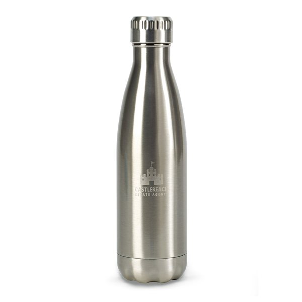 Promotional Oasis Double Wall Stainless Bottle - 17 oz - Stainless Steel